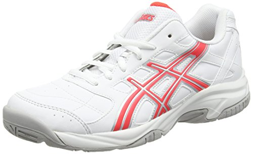 ASICS Gel-estoril Court, Damen Tennisschuhe, Weiß (white/diva Pink/silver 0121), Gr. 42 EU (8 UK )