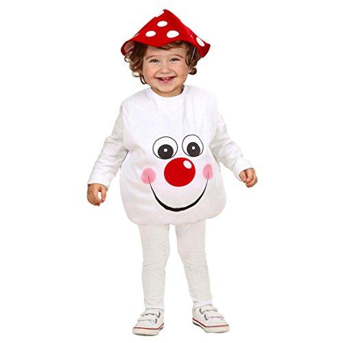 NET TOYS Fliegenpilz Kostüm Pilzkostüm Kinder 90-104 cm 1-3 Jahre Pilz Kinderkostüm Baby Fliegenpilzkostüm Wald Babykostüm Günstiges Kinderkostüm Karnevalskostüm Baby (Nette Und Günstige Kostüm)