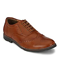 Prolific Men Tan Imperial Brogue Shoes