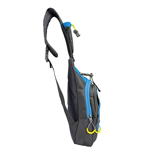 qyuhe® Brust Sling Bag Pack, Schulter Crossbody Wandern Rucksack Sport Fahrrad Rucksack Handtasche Daypack für Herren Frauen Junge Mädchen Jugendliche Blau
