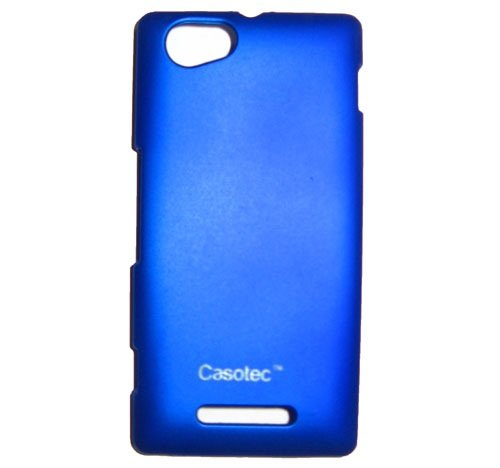 Casotec Ultra Slim Hard Shell Back Case Cover w/ Screen Protector for Sony Xperia M - Deep Blue  available at amazon for Rs.175