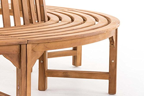 CLP Baumbank NOVUM aus massivem Teak-Holz, 360° Rund-Bank, geeignet für mindestens 8 Personen Ø ca. 132 cm / 250 cm (innen / außen) - 6