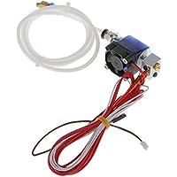 Alle Metall Hotend Kit Düse Metall V6 Extruder Druckkopf für 3D-Drucker 1.75mm Glühfaden - rot, 0.3mm
