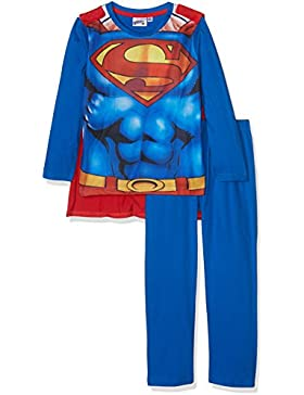 Superman Jungen Pyjama Schlafanzug - blau