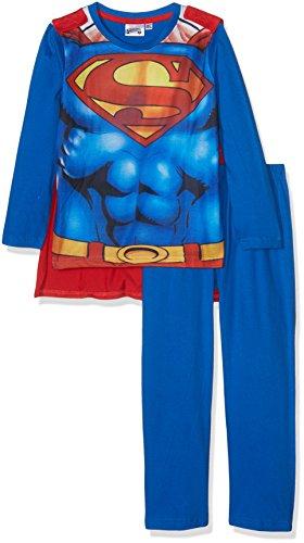 Superman 86384, Conjuntos de Pijama para Niños, (Blanc Bleu), 8 años