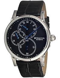 heritor automatic HERHR1102 - Reloj para hombres, correa de cuero color negro