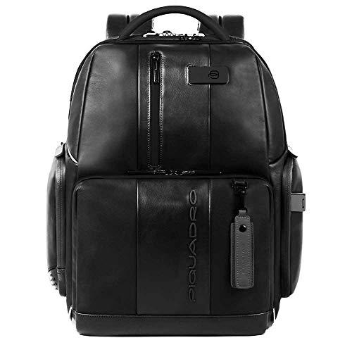 Piquadro Urban Laptoprucksack mit iPad Fach und Diebstahlsicherung 44 cm Black