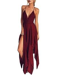 118b4cb22 Overdose 2018 Summer Women Boho Long Evening Party Cocktail Empire Chiffon  Casual Beach Dress V-