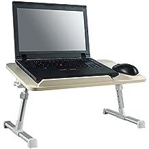 Minitable regolabile per laptop portatile da tavolo in piedi, pieghevole, vassoio da letto divano tavola per la colazione, Supporto regolabile per notebook, lettura supporto per divano pavimento per bambini, con ventola di raffreddamento