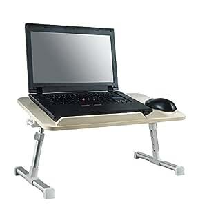 Minitavolo regolabile vassoio da letto supporto per computer portatile scrivania tavolo - Vassoio da letto amazon ...