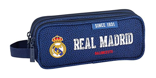 Safta Estuche Real Madrid Basket Oficial Triple cremallera 210x70x85mm