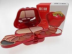 Ads Colour Series 14 Eyeshadow 2 Powder Cake 4 Lip Colour Fashanable Makeup Kit-A8010-2-GCI