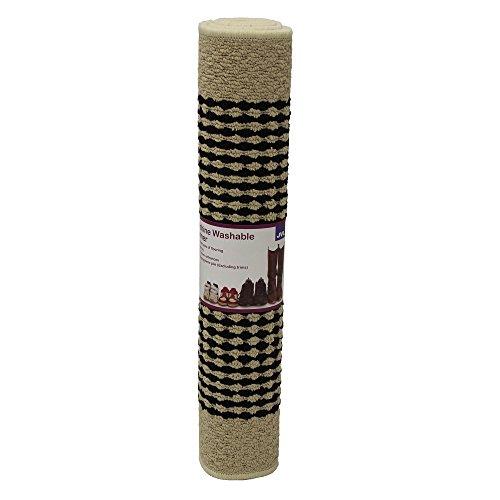 JVL–Alfombra de pasillo Valencia, lavable a máquina, parte trasera de látex, color crema/marrón, 57x 150cm, crema/marrón