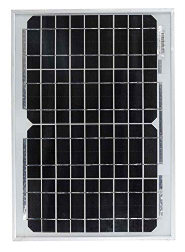 10W Mono-Solarmodul, Photovoltaik-Modul mit 4-m-Kabel & Krokodilklemmen–ideal für Boot und Wohnmobil