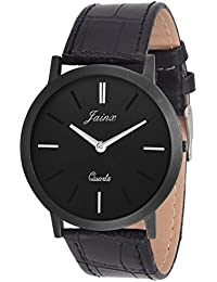 Jainx Slim Black Dial Analog Watch For Men & Boys - JM208