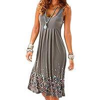 f418b02dba Wagonste - Sleeveless Floral Print Loose Dress Fashion Six Colors Casual Women  Dress Robe Femme Ete