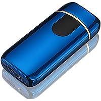 Yangers - Encendedor eléctrico de cigarrillos con doble arco y batería recargable por USB, resistente