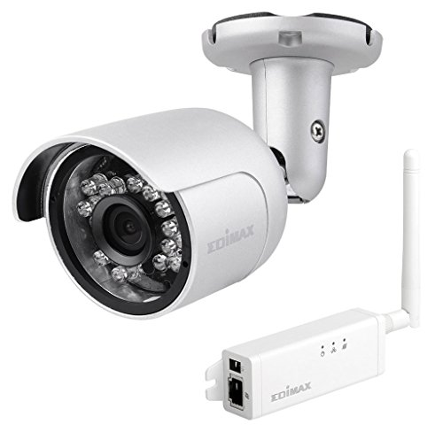 (Edimax IC-9110W Smart HD WLAN Mini Outdoor-Netzwerkkamera mit 139° Blickwinkel)