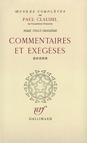 Oeuvres complètes, tome 23 : Commentaires et exégèses, V : Seigneur, apprenez-nous à prier