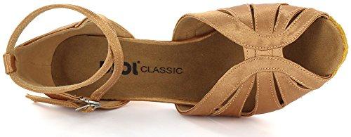 DSOL CLASSICLatin dance Sandal DC271303/DC271308 - Ballroom donna Nero (Tenné)