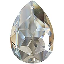 BESTOMZ Lámpara de Araña de Cristal Claro Iluminación Lágrima Gotas Colgantes Bolas Prismas Colgantes Adornos Hogar