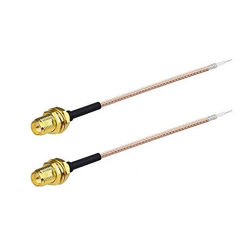 Eightwood RP-SMA Adapter Pigtail Kabel RG178 6inch 15cm RP-SMA Buchse 2 Stücke für Wirelesse Wifi Router AV Sender TP-Link Dlink Netgear Belkin