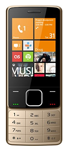 IKALL K6300 Basic Feature Mobile Phone (Gold, 64MB)