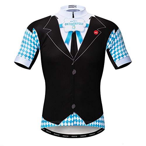 Weimostar Radfahren Jersey Herren Radfahren Kleidung Fahrrad Jersey Top Mountain Road MTB Jersey Shirt Kurzarm Atmungsaktive Team Sport Deutschland Schwarz Größe XXXL