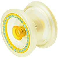 Bola de yoyo - MAGIC YOYO K1 Giro ABS Yoyo Nuevo PVC Profesional Yoyo Juguetes con Hubstacks Transparente