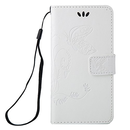 Phone case & Hülle Für iPhone 6 / 6s, Crazy Horse Texture Printing Horizontale Flip Leder Tasche mit Halter & Card Slots & Wallet & Lanyard ( Color : Brown ) White