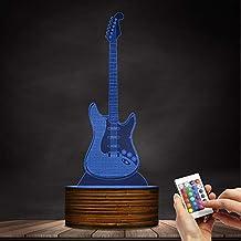 ZCLD - Señal de luz 3D para Guitarra, iluminación de Habitaciones, decoración para Amantes