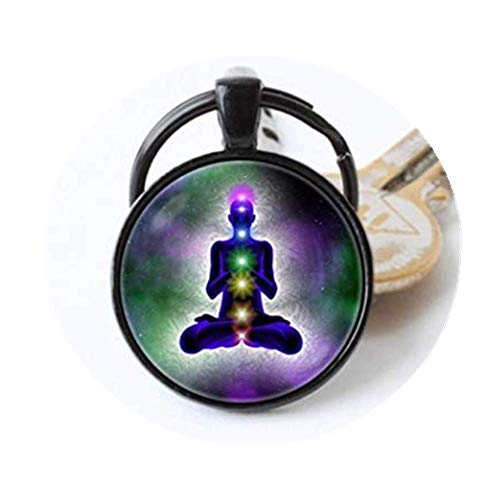 we are Forever family Meditations-Schlüsselanhänger, Chakra-Schlüsselanhänger, Chakra-Chakra-Schmuck, Yoga-Schmuck, spirituelle Energie Buddha-Schlüsselanhänger