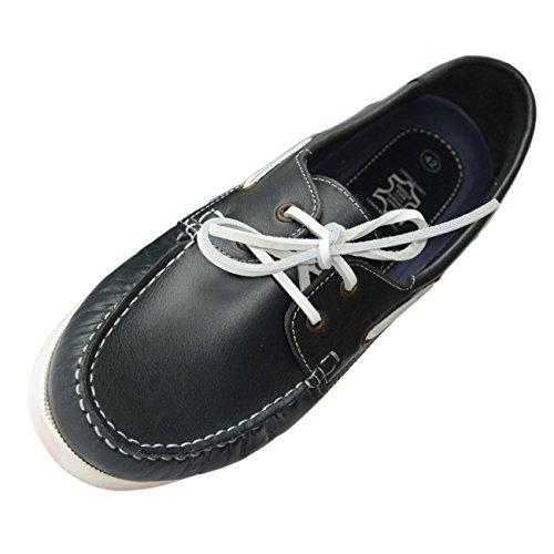 Beverly Originals Chaussures Bateau Cuir Homme Men's Casual Sailor, Taille:43, Couleur:marine