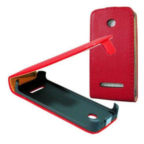 handy-point Flip Case für Nokia Asha 206, Rot, Klapptasche, Tasche, Hülle, Klapphülle, Schale, Schutzhülle, Schutz, Handyhülle, Handytasche, Handyschale, Etui