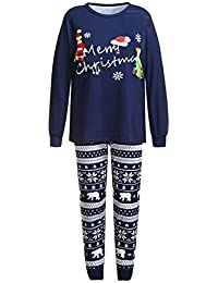 Zolimx Weihnachten Kleinkind Baby Cartoon Brief Spielanzug 3PCS Romper+Hose+Mütze Sets Family Clothes Elch-Print-Bademantel + Hose dreiteilige Eltern-Kind-Kleidung Familie Kleidung Pyjamas