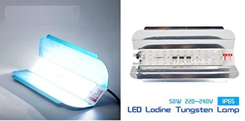 SaleOn 50W LED Flood Energy Saving IP65 Waterproof Iodine 220V-240V Tungsten Halogen 538 (Silver)
