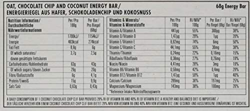 Clif Bar Energieriegel Coconut Chocolate Chip, 12er Pack (12 x 68 g)