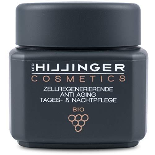 HILLINGER COSMETICS - Bio Anti-Aging-Creme für Tag & Nacht aus der Kraft der Weintraube - vegane, zellregenerierende & feuchtigkeitsspendene Anti-Falten-Creme mit natürlichem Hyaluron & Resveratrol -