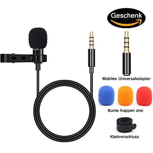 BIFY Lavalier Mikrofon für Smartphoneund PC, 2 Adaptern,für iPhone, Android Smartphone ,mikrofon für smartphone,PC (Galaxy Ii Handy-fällen)