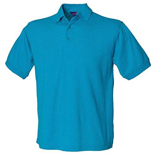 Henbury Herren Modern Poloshirt Türkis