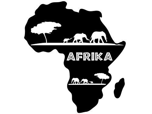 Wandtattoo-bilder Wandtattoo Afrika Nr 1 Landkarte Kontinente Savanne Elefanten Wandsticker Wandaufkleber Farbe Violett,...