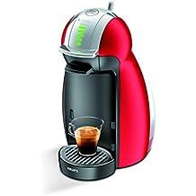 Krups Dolce Gusto Genio 2 - Cafetera multibebidas automática, color rojo