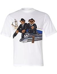 Brubaker T-shirt blanc avec différents motifs de Ours