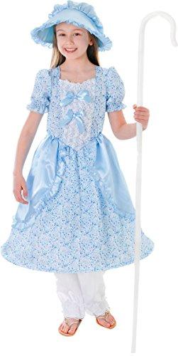 Kinder Little Bo Peep Buch, Woche Tag Fancy Kostüm Outfit viktorianischen Kleid UK (Kostüm Little Bo Peep)