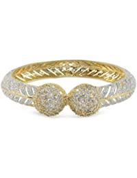Cardinal Traditional American Diamond Gold Plated Antique Bangle Set Latest Design Jewellery For Women/Girl