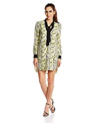 French Connection Womens A Line Dress (71ECC_Acid Blonde Multi_6)