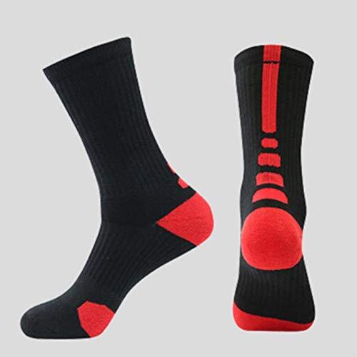 WADUANRUN Stutzen 100%/Basketball-Socken/feuchtigkeitsableitende Sportsocken/Baumwollsocken - Kinder rot -