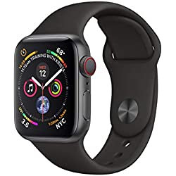 Apple Watch Series 4 (GPS + Cellular, 40 mm Aluminiumgehäuse space grau, mit Sportarmband) schwarz Apple Watch