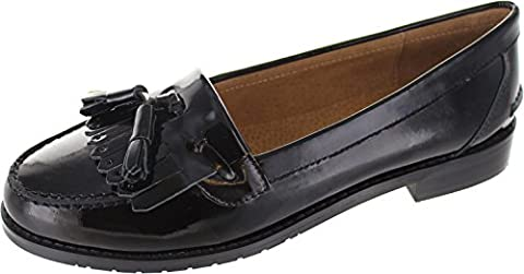 Laceys London Cassidy Tassle, Chaussures de ville à lacets pour femme noir noir - noir - noir, 39.5