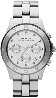 Marc Jacobs Women's Quartz Watch, Analog Display and Stainless Steel Strap Mbm3100, Silver